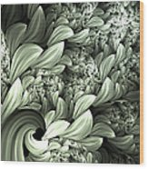 Pastel Garden Abstract Wood Print