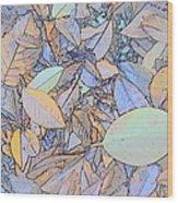 Pastel Leaves Wood Print