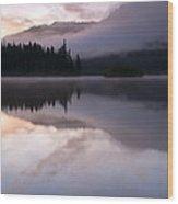Pastel Morning Mist Wood Print