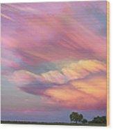 Pastel Painted Sunset Sky Wood Print