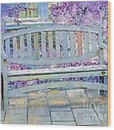 Pastel Patio Wood Print