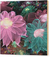 Pastel Posies Wood Print by Peggi Wolfe