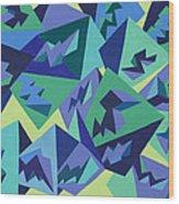 Pastel Pyramids Wood Print