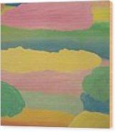 Pastel Rainbow Clouds Wood Print
