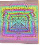 Pastel Rainbow Reverberations Wood Print