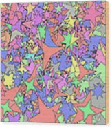 Pastel Stars Wood Print