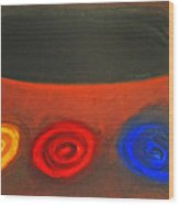 Pastel Three Color Galaxies And A Black Hole Wood Print