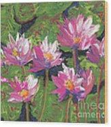 Pastel Water Lilies I  Wood Print