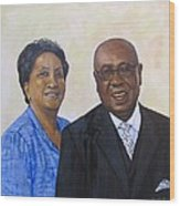 Pastor Donahue and Yvonne Green Wood Print