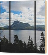 Pastoral Scene By The Ocean Triptych Wood Print