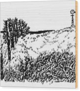 Pasture  Wood Print by Jean Ann Curry Hess