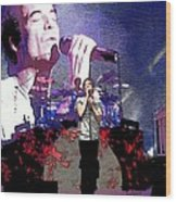 Pat Monahan Of Train Wood Print