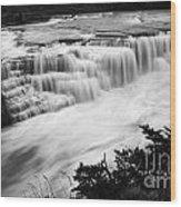 Patagonia Rio Glaciar Waterfall Wood Print
