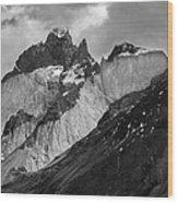 Patagonian Mountains Wood Print