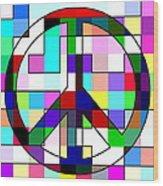 Patch Peace Wood Print