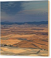 Patched Palouse Wood Print
