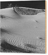 Patches In The Dunes Wood Print