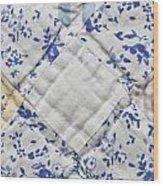 Patchwork Quilt Wood Print by Tom Gowanlock