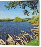 Pateira Boats Wood Print
