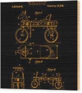 Patent Art 1920 Herzog Hobby Horse Gold Wood Print