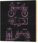 Patent Art 1920 Herzog Hobby Horse Pink Wood Print