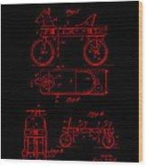 Patent Art 1920 Herzog Hobby Horse Red Wood Print