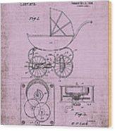 Patent Art Baby Carriage 1920 Lark Invite IIi Wood Print