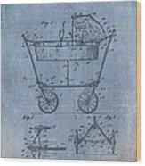 Patent Art Baby Carriage 1922 Mahr Denim Wood Print