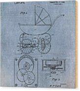 Patent Art Baby Carriage Lark II Invite Wood Print