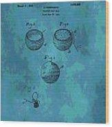 Patent Art Golf Ball Wood Print