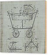 Patent Art Mahr Baby Carriage 1922 Green Wood Print