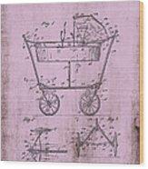 Patent Art Mahr Baby Carriage 1922 Pink Wood Print