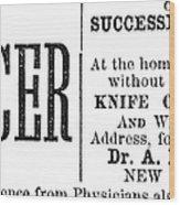 Patent Medicine, 1876 Wood Print