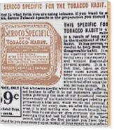 Patent Medicine Ad, 1890s Wood Print