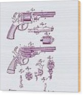 Patented Revolver In Purple Wood Print