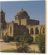 Path In Front Of A Church, Mission San Wood Print
