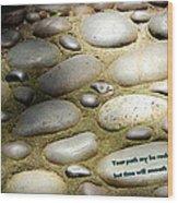 Path Of Pebbles  Wood Print