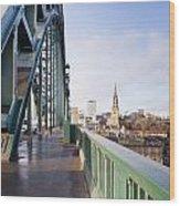 Path On Tyne Bridge Wood Print