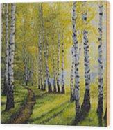 Path To Autumn Wood Print