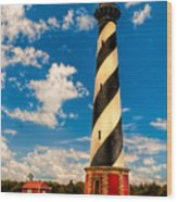 Path To Cape Hatteras Light Wood Print