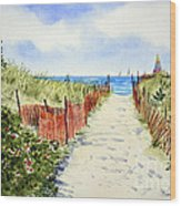 Path To East Beach-watch Hill Ri Wood Print