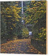 Path To Multnomah Falls Wood Print