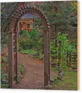 Path To The House Wood Print