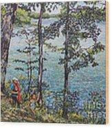 Path To The Lake Wood Print