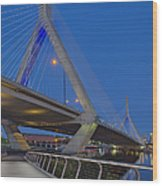 Path To The Leonard P. Zakim Bridge Wood Print