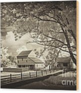 Path To The Old Barn Wood Print