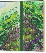 Path To The Unknown Diptych In Green Wood Print