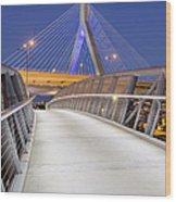 Path To The Zakim Bridge Wood Print