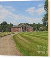Pathway To Adlington Hall Wood Print
