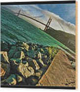 Pathway To The Golden Gate Wood Print